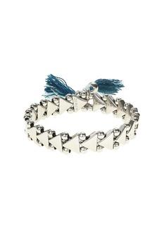 Stretch triangle tassel bracelet