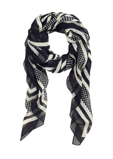 Stripe-and-dot scarf
