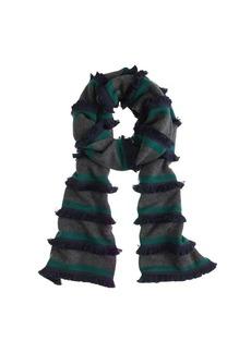 Stripe fringe scarf