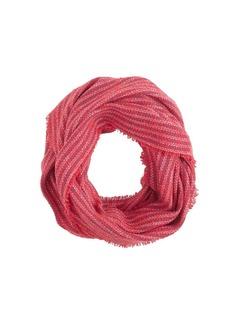 Stripe gauze infinity scarf