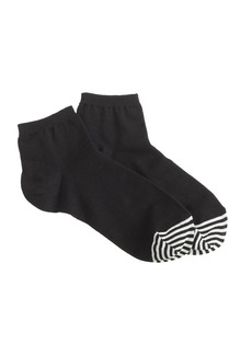 Stripe-toe ankle socks