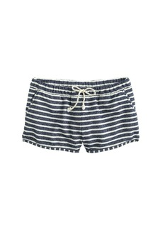 Striped beach short