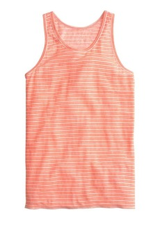 Striped linen tank top