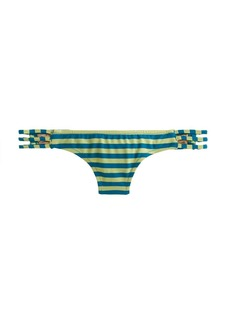 Striped three-string hipster bikini bottom