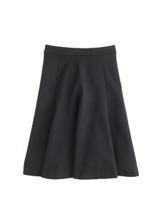 Structured A-line skirt