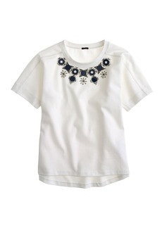 Structured necklace tee