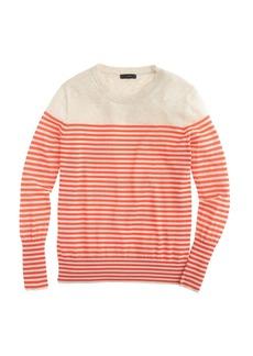 Summerweight cotton sweater in stripe
