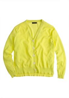 Summerweight cotton V-neck cardigan sweater