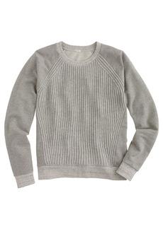 Sweater-front sweatshirt