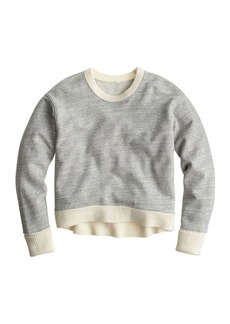 Sweater-tipped sweatshirt