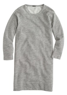 Sweatshirt dress in speckle grey