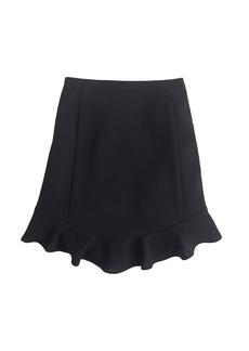 Swing skirt in drapey twill