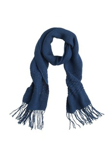 Textured fringe scarf
