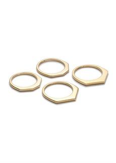 Thin shaped ring set