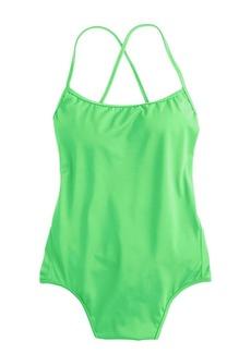 Tie-back one-piece swimsuit