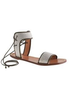 Tie-back sandals