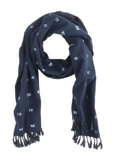 Tie-dye indigo scarf