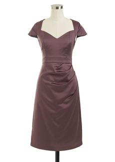 Tinsley dress in stretch satin
