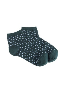 Tiny heart ankle socks