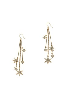 Tiny shooting star earrings