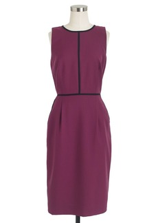 Tipped dress in Super 120s wool