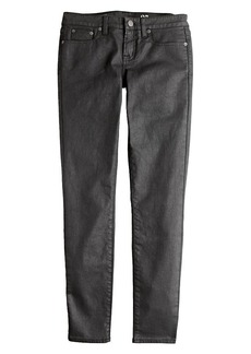 Toothpick jean in coated denim