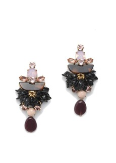 Tortoise crystal earrings