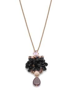 Tortoise crystal pendant necklace
