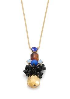 Tortoise geo pendant necklace