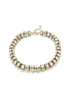 Twisted crystal necklace