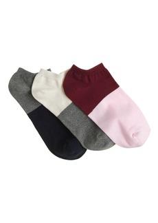 Two-tone ankle socks three-pack