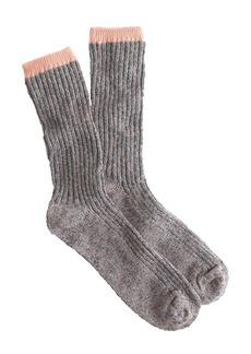 Two-tone marled trouser socks
