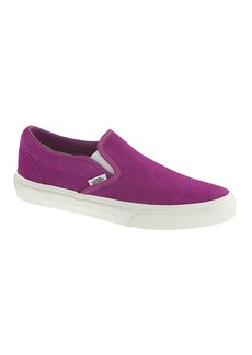 Unisex Vans® classic slip-on sneakers in suede