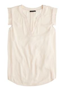 V-neck band-sleeve shell