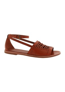 Vachetta leather huarache sandals