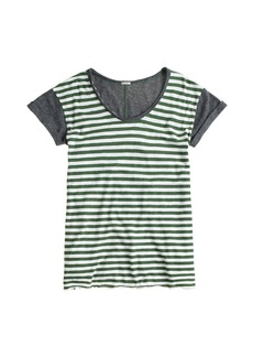 Vintage cotton colorblock stripe tee