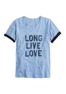 Vintage cotton long live love tee