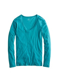 Vintage cotton long-sleeve scoopneck tee