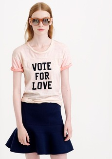 Vintage cotton vote for love tee