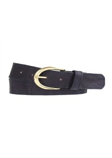 Vintage leather wide belt
