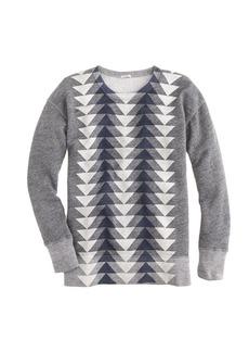 Vintage sweatshirt in metallic triangles