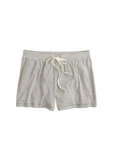 Whisper jersey short in stripe