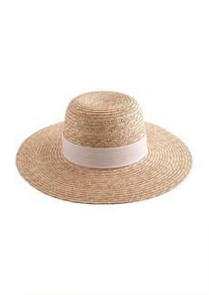Wide-brimmed straw hat