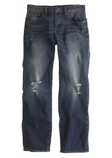 Wide-leg cropped jean in odell wash