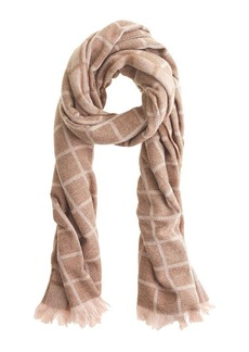 Windowpane scarf