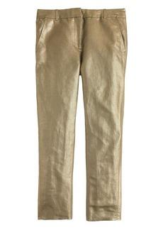 Women's Ludlow pant in gold linen