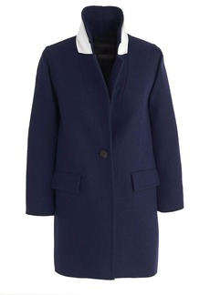 Wool melton boyfriend coat
