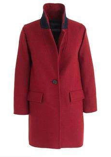 Wool melton boyfriend coat