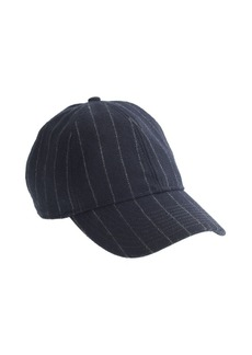 Wool pinstripe baseball cap