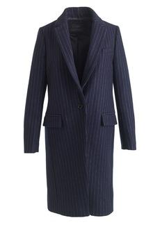 Wool pinstripe topcoat